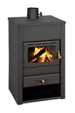 23055307 Piec wolnostojący 10kW na drewno, brykiet, węgiel (średnica rury dymnej: 130mm)