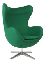 99851003 Fotel Jajo inspirowany Egg szeroki tkanina (kolor: zielony)