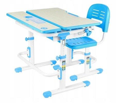 Biurkosa Zestaw regulowane biurko + krzesełko Blue 11976322