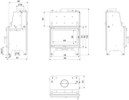 DOSTAWA GRATIS! 30065527 Wkład kominkowy 12kW AQUARIO O12 PW GLASS z płaszczem wodnym, wężownicą (szyba prosta) - spełnia anty-smogowy EkoProjekt