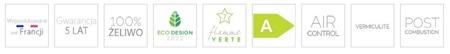 DOSTAWA GRATIS! 86865682 Piec wolnostojący Invicta 7kW Altara + dolot powietrza (wylot spalin: góra, kolor: antracyt)- spełnia anty-smogowy EkoProjekt