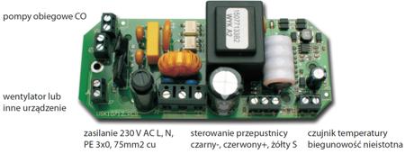 KONS Mikroprocesorowy sterownik kominka z przepustnicą fi 100 glass 30041764