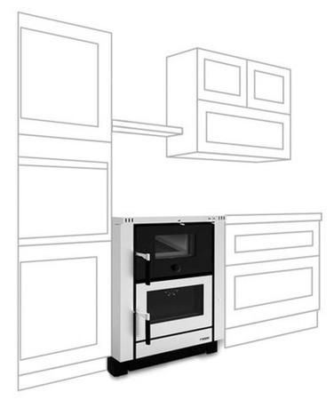 POMA Kuchnia z piekarnikiem, angielka La Nordica 7,5kW Vicenza Evo, bez płaszcza wodnego (piekarnik, kolor: inox) - spełnia anty-smogowy EkoProjekt 88872744