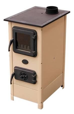 Piec kominkowy z płytą do gotowania 7kW (wylot spalin: 120mm, kolor: beżowy) - spełnia anty-smogowy EkoProjekt 17476582