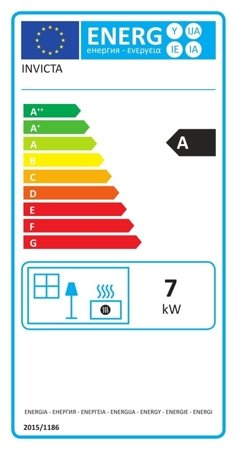 Piec wolnostojący Invicta 7kW Iwaki (wylot spalin: góra, kolor: antracyt) - spełnia anty-smogowy EkoProjekt 86854924